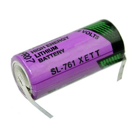 Tadiran lithium 3.6V  2/3AA  SL761/T met soldeerlippen